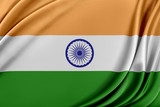 India flag with a glossy silk texture.