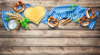 Leinwandbild Motiv Rustic background for Oktoberfest or Bavarian specialties