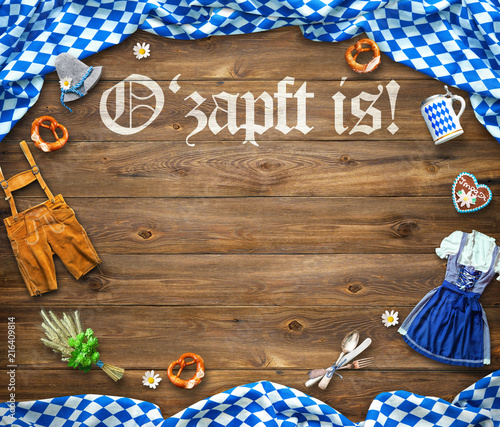 Leinwandbild Motiv Rustic background for Oktoberfest