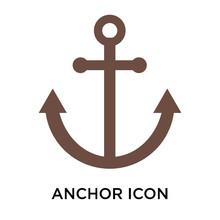 Anchor Icon  Sign And Symbol    Anchor Logo Concept Sticker