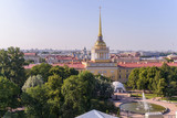 View from the roofs to St. Petersburg, the sights of the city from a height - 216417030