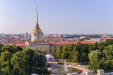 View from the roofs to St. Petersburg, the sights of the city from a height - 216417076