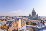 View from the roofs to St. Petersburg, the sights of the city from a height - 216417242