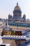 View from the roofs to St. Petersburg, the sights of the city from a height - 216417442