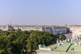 View from the roofs to St. Petersburg, the sights of the city from a height - 216417604