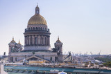 View from the roofs to St. Petersburg, the sights of the city from a height - 216417632