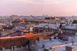 View from the roofs to St. Petersburg, the sights of the city from a height - 216417807
