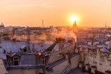 View from the roofs to St. Petersburg, the sights of the city from a height - 216417822