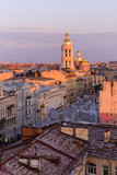 View from the roofs to St. Petersburg, the sights of the city from a height - 216417848