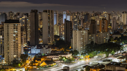 Great cities at night, avenue of the Bandeirantes in Sao Paulo Brazil South America