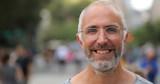 Mature caucasian man in city face portrait - 216422619