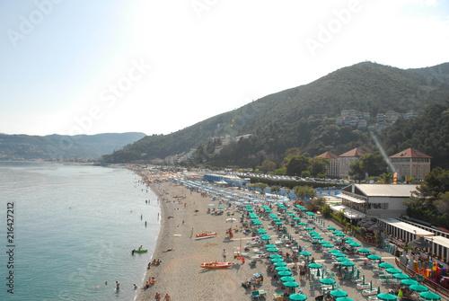 Fotobehang Liguria View of the seaside of Spotorno
