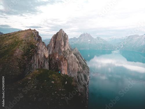 Canvas Wit Segla mountain in Norway