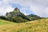 Mountain Landscape. Picturesque rocky peaks in Ciucas Mountain Range, Romania. - 216448419