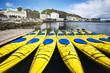 Leinwanddruck Bild - a group of kayaks in alesund