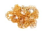 Banch of Golden jewelry