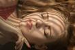 Leinwanddruck Bild - sensual girl lying