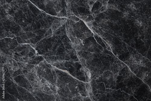 Black marble white veins - 216467877
