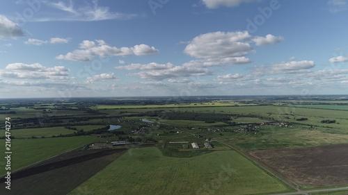 Fotobehang Donkergrijs Aerial summer landscape