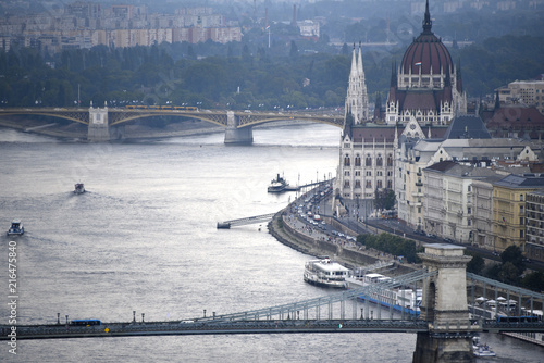 In de dag Boedapest Budapest (vue panoramique)