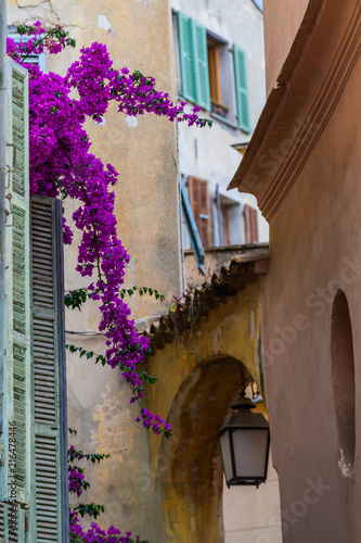 On the streets of a medieval village .Roquebrune-Cap-Martin. French Riviera. Cote d'Azur. © alexanderkonsta