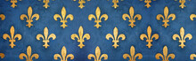 "Постер, картина, фотообои ""Fresque fleurs de lys / Florence - Palazzo Vecchio (Italie)"""