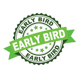 Green rubber stamp with early bird concept - 216483240
