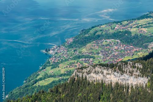 Aluminium Blauwe jeans Alps panorama from Niederhorn