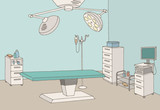 Operating room graphic color interior sketch illustration vector - 216486094