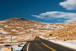 Quadro Highway in alpine tundra. Rocky Mountain National Park in Colorado.