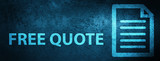 Free quote (page icon) special blue banner background - 216486649