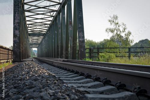 Foto Spatwand Spoorlijn Alte Zugbrücke