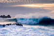 Leinwanddruck Bild - Breaking wave on Tenerife coast, Canary Islands, Spain