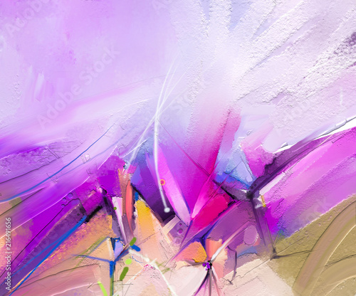 Aluminium Purper Abstract colorful oil painting on canvas texture