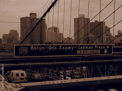 Fotobehang Brooklyn Bridge OLYMPUS DIGITAL CAMERA