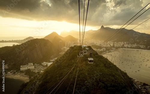 Canvas Rio de Janeiro Panorama of Rio de Janeiro from Sugarloaf mountain, Brazil