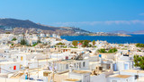 view on Mykonos town, Cyclades, Greece - 216499406