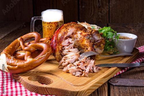 crisp and crusty original Eisbein in Bavarian - 216503214