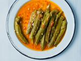 rustic greek mediterranean stewed okra - 216510052
