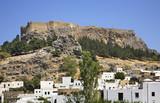 Acropolis in Lindos. Rhodes island. Greece