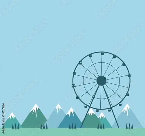 Plexiglas Pool ruota panoramica, giostra, svago, no stress