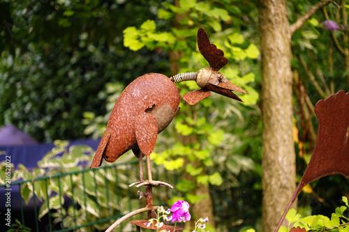 Foto Murales rostiger Vogel von der Seite