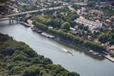 vue aérienne de Conflans-sainte-Honorine dans les Yvelines à l'ouest de Paris