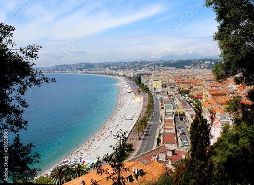 Canvas Nice Nice France beach
