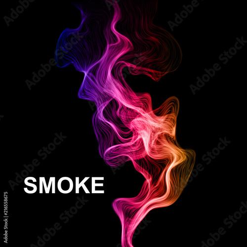 In de dag Abstractie Smoke on black vector background.
