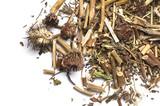 Dried Echinacea root Purpurea isolated on white - 216560867