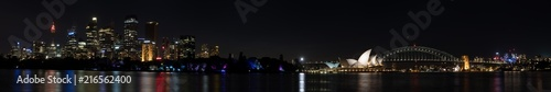 Aluminium Sydney Sydney Harbor Night Panorama