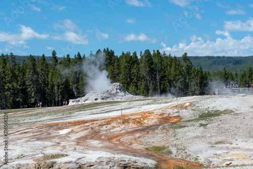 Foto Spatwand Blauw A Yellowstone Hot Spring