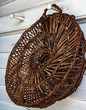 Woven Basket on the Porch