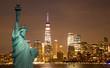 Quadro New York City Manhattan downtown skyline